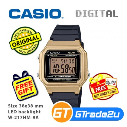 [READY STOCK] Casio Mens W-217HM Digital Watch Special Rosegold Gold Silver Color