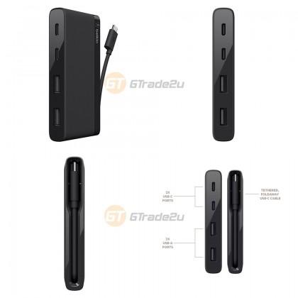 Belkin USB-C Type-C to 4 Port USB Mini Hub Macbook Pro Other Laptop *Free Gift