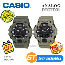 [READY STOCK] Casio Mens HDC-700 Analog Digital Watch Special Military Green Color