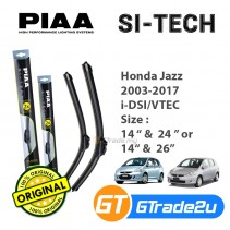 "Honda Jazz 2003-2017 i-DSI/VTEC Piaa Si-Tech Silicone Windshield Wiper Blade 14""-26""/24"""
