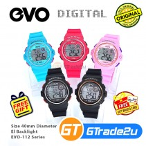 EVO-112 Unisex Men Women Digital Sport Watch Jam Tangan Digital Unisex [PRE]