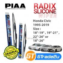 Honda Civic 1995-2019 Piaa Radix Silicone Windshield Wiper Blade *Free Gift