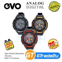 EVO-113 Unisex Men Analog Digital Sport Watch Jam Tangan Digital Lelaki [PRE]