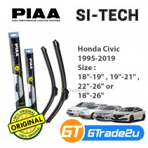Honda Civic 1995-2019 Piaa Si-Tech Silicone Windshield Wiper Blade *Free Gift