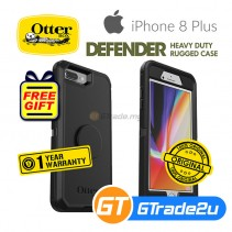 Otterbox PopSockets Defender Rugged Case Apple iPhone 8 7 Plus Black * Free Gift