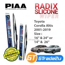 Toyota Corolla Altis 2001-2019 Piaa Radix Silicone Windshield Wiper Blade *Free Gift