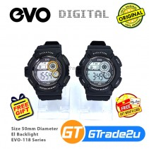 EVO-118 Men Digital Sport Watch Jam Tangan Digital Lelaki [PRE]
