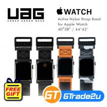 "Uag Urban Armor Gear Active Nylon Strap Band for Apple Watch 40""38""&44""42"""