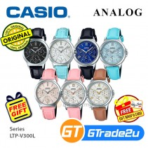 Casio Women Ladies LTP-V300L Analog Leather Watch [READY-STOCK] Casual Day Date 24hrs Display
