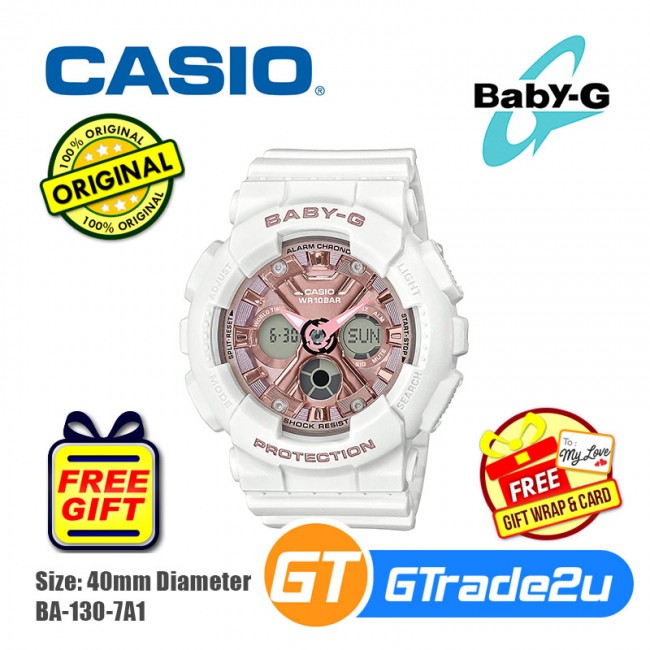 Casio Baby-G BA-130 Women Kids Digital Watch Only for 2019 Summer Fashion [PRE]