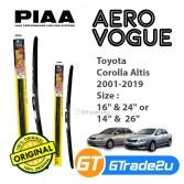 Toyota Corolla Altis 2001-2019 Piaa Aero Vogue Silicone Windshield Wiper Blade *Free Gift