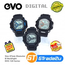 EVO-120 Men Digital Armor Sport Watch Jam Tangan Digital Lelaki [PRE]