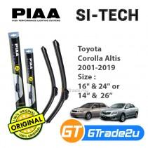 Toyota Corolla Altis 2001-2019 Piaa Si-Tech Silicone Windshield Wiper Blade *Free Gift