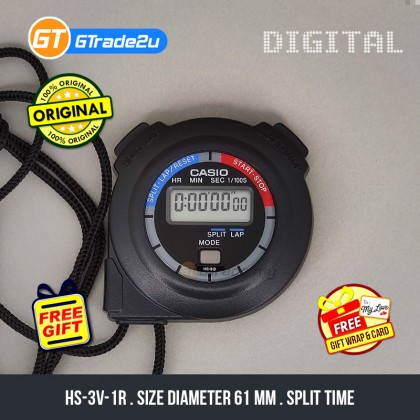 [READY STOCK] CASIO HS-3V-1R Hand Held Sports Track Field Digital Stopwatch