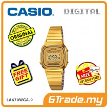 CASIO STANDARD LA670WGA-9 Digital Ladies Watch | Gold Retro Alarm