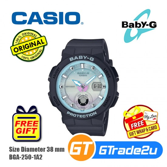 Casio Baby-G BGA-250-1A2 Women Analog Digital Watch Beach Traveler New Color