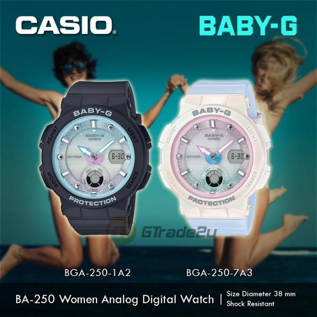 Casio Baby-G BGA-250-7A3 Women Analog Digital Watch Beach Traveler New Color