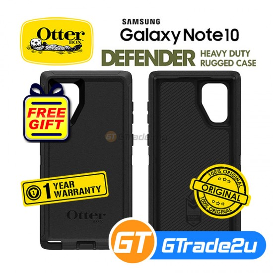 Otterbox Defender Rugged Tough Case Samsung Galaxy Note 10 Black *Free Gift