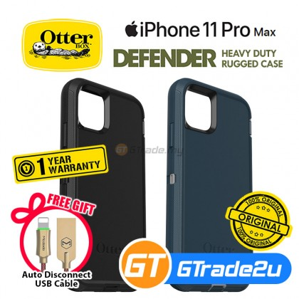 Otterbox Defender Rugged Tough Case Apple iPhone 11 Pro Max*Free Gift