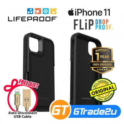 Lifeproof Flip Back Flap Panel Case Apple iPhone 11 Dark Knight*Free Gift