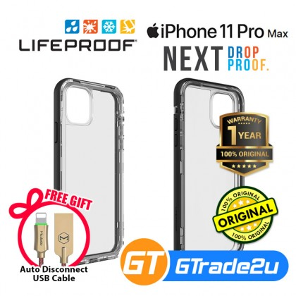 Lifeproof Next Drops Dirt Proof Case Apple iPhone 11 Pro Max Black*Free Gift
