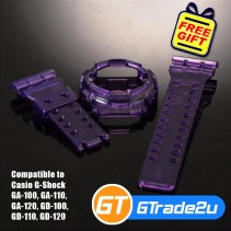 Custom Band & Bezel Jelly Violet for Casio G-Shock GA-GD-100-110-120
