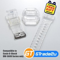 Custom Band & Bezel Jelly Transparent for Casio G-Shock DW-5600 Series