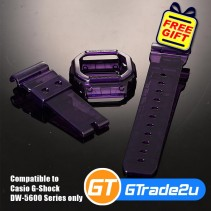 Custom Band & Bezel Jelly Violet for Casio G-Shock DW-5600 Series