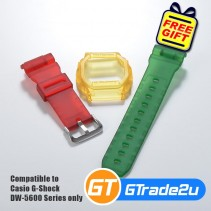 Custom Band & Bezel Matte Red Yellow Green for Casio G-Shock DW-5600 Series