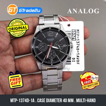 [READY STOCK] CASIO STANDARD MTP-1374D-1AV Analog Mens Watch | Date Day Display