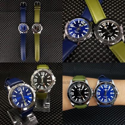 [READY STOCK]Casio Men MTP-VD01L-3B Green Analog Watch Jam Tangan Lelaki Leather Band