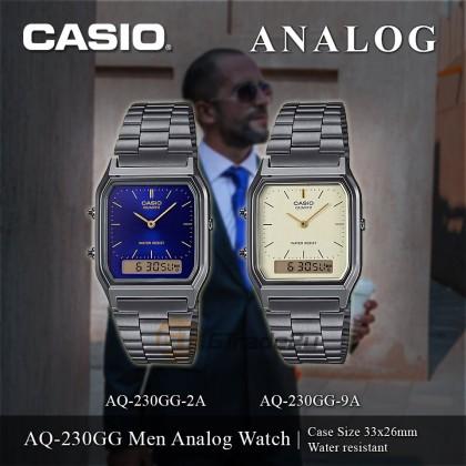[READY STOCK] Casio Men AQ-230GG-9A Grey Milk Analog Digital Watch Jam Tangan Lelaki
