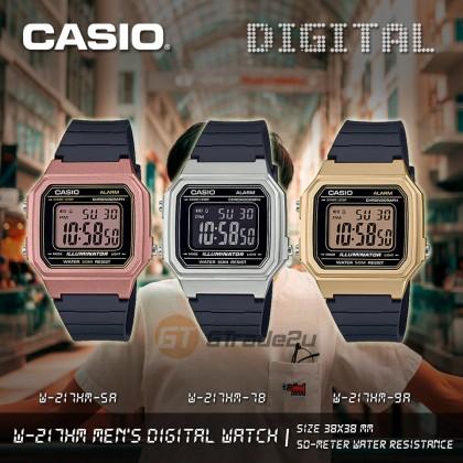 Casio Men Women W-217HM-9A Digital Watches [READY STOCK] Jam Tangan Lelaki Wanita Watch For Women Watch For Man
