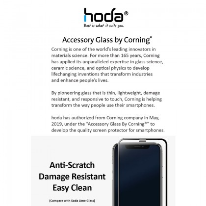 Hoda AGBC Full Cover 0.33mm 3D Curved Tempered Glass Screen Protector Apple iPhone 11 Xr*Free Gift
