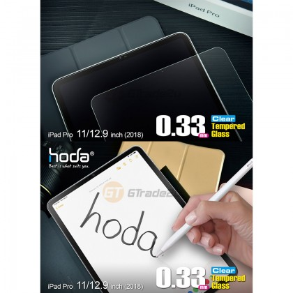 Hoda 0.33mm Crystal Clear Tempered Glass Screen Protector Apple iPad Pro 11