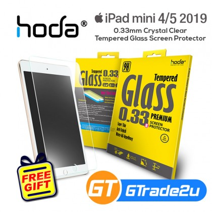Hoda 0.33mm Crystal Clear Tempered Glass Screen Protector Apple iPad Mini 4 5 2019