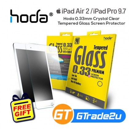 Hoda 0.33mm Crystal Clear Tempered Glass Screen Protector Apple iPad Air 2 iPad Pro 9.7