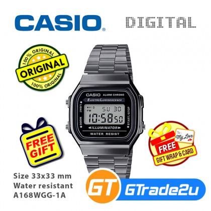 Casio Men A168WGG-1A Digital Watch [READY STOCK] watch for man jam tangan lelaki