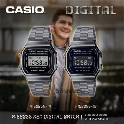 Casio Men A168WGG-1B Digital Watch [READY STOCK] watch for man jam tangan lelaki