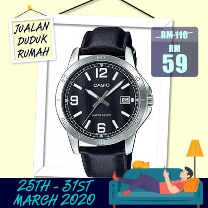 Casio Men MTP-V004L-1B Analog Watch [READY STOCK]  watch for man jam tangan lelaki