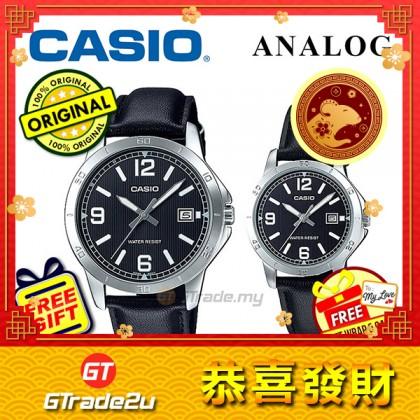 Casio Couple MTP-V004L-1B & LTP-V004L-1B Analog Watches [READY STOCK] jam tangan pasangan lelaki wanita