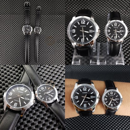 Casio Couple MTP-V004L-1B & LTP-V004L-1B Analog Watches [READY STOCK] jam tangan pasangan lelaki wanita