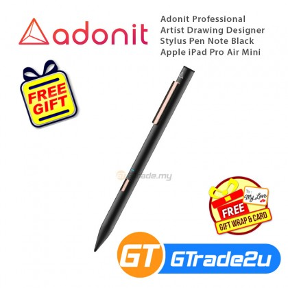 Adonit Professional Artist Drawing Designer Stylus Pen Note Black Apple iPad Pro Air Mini