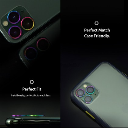 Hoda Sapphire Metal Frame Camera Lens Protector Apple iPhone 11 Pro Pro Max Flamed Titanium