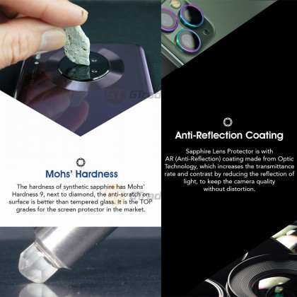 Hoda Sapphire Metal Frame Camera Lens Protector Samsung Galaxy Note 10+ Plus