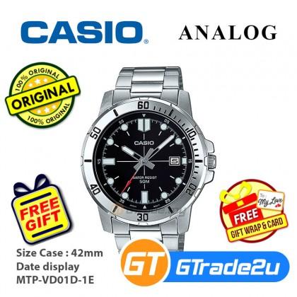 Casio Men Analog Watch for man Steel jam tangan lelaki Analog MTP-VD01D *Free Gift