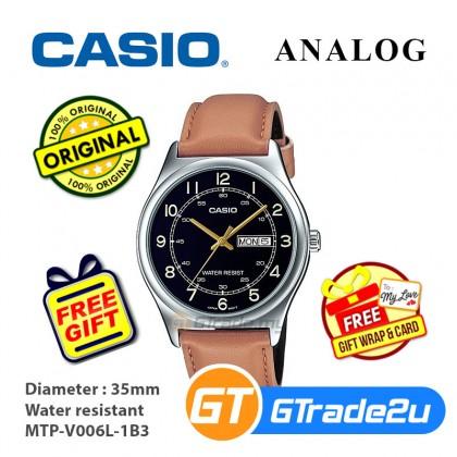 Casio Men MTP-V006L-1B3 Analog Watch watch for man jam tangan lelaki