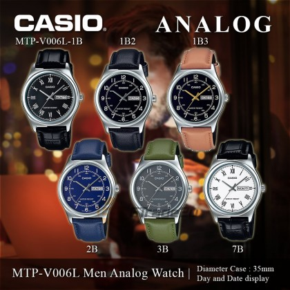Casio Men MTP-V006L-1B3 Analog Watch [READY STOCK] watch for man jam tangan lelaki