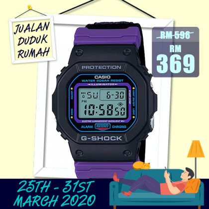 Casio G-Shock Men DW-5600THS-1D Sport Digital Watch [READY STOCK] g shock Resin Band DW5600THS-1D DW-5600THS-1