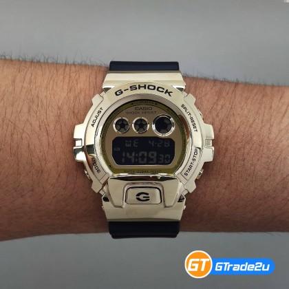 Casio G-Shock Men GM-6900G-9D GM6900G-9D GM-6900G-9 Digital Gold Metal Covered Bezel Watch Kilat Gold Black Resin Band G Shock . watch for man . jam tangan lelaki . casio watch for men . casio watch . men watch . watch for men [READY STOCK]
